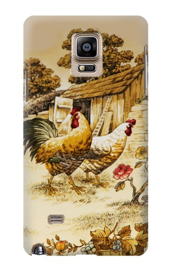 Printed French Country Chicken Samsung Note 4 Case