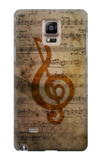 Printed Sheet Music Notes Samsung Note 4 Case