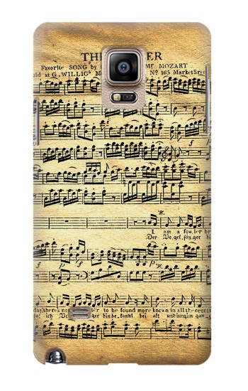 Printed The Fowler Mozart Music Sheet Samsung Note 4 Case