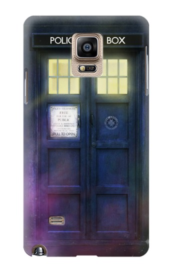 Printed Tardis Phone Box Samsung Note 4 Case