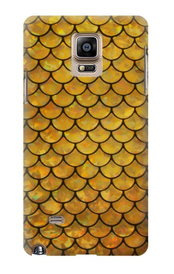 Printed Gold Fish Scale Samsung Note 4 Case