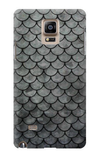 Printed Silver Fish Scale Samsung Note 4 Case