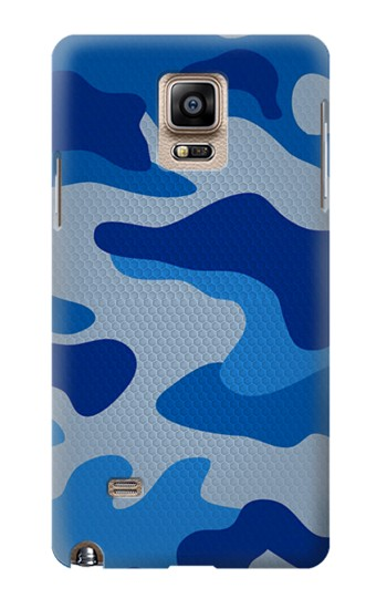 Printed Army Blue Camouflage Samsung Note 4 Case