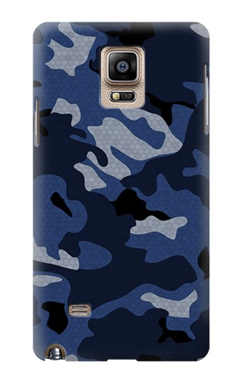 Printed Navy Blue Camouflage Samsung Note 4 Case