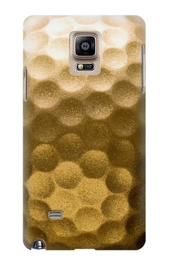Printed Gold Golf Ball Samsung Note 4 Case