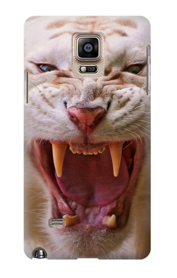 Printed White Saber Toothed Tiger Samsung Note 4 Case