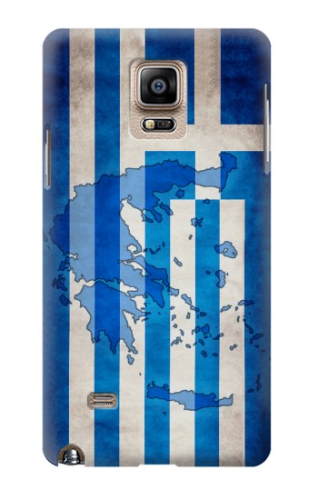Printed Greece Map Flag Samsung Note 4 Case