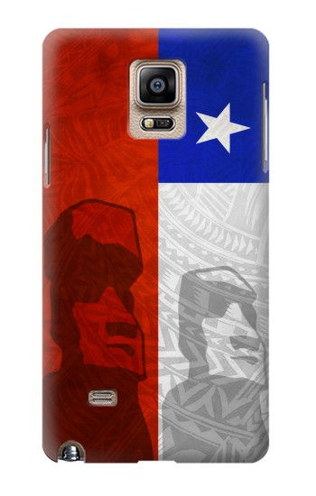Printed Chile Polynesian Flag Samsung Note 4 Case