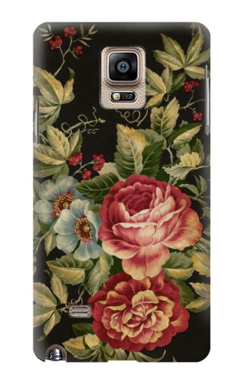 Printed Vintage Antique Roses Samsung Note 4 Case
