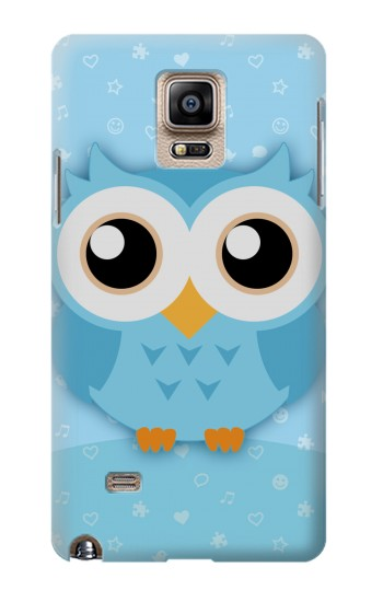 Printed Cute Blue Owl Samsung Note 4 Case