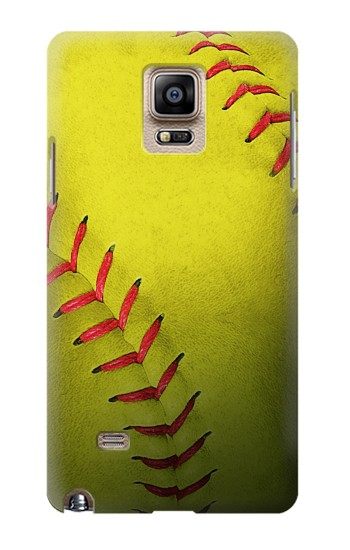 Printed Yellow Softball Ball Samsung Note 4 Case