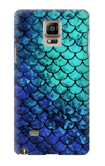 Printed Green Mermaid Fish Scale Samsung Note 4 Case