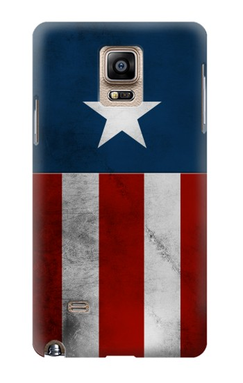 Printed Captain Star Flag of America Samsung Note 4 Case