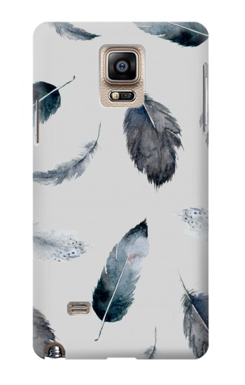 Printed Feather Paint Pattern Samsung Note 4 Case