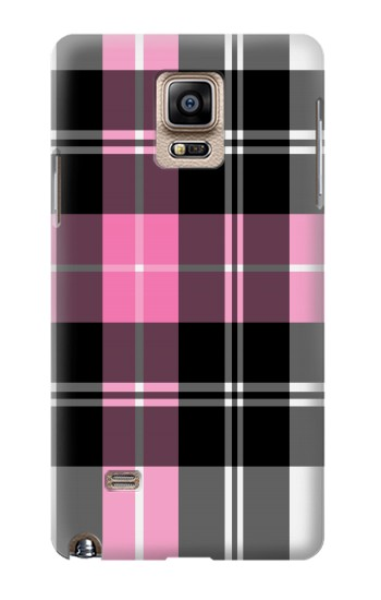 Printed Pink Plaid Pattern Samsung Note 4 Case