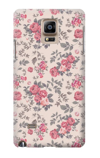 Printed Vintage Rose Pattern Samsung Note 4 Case