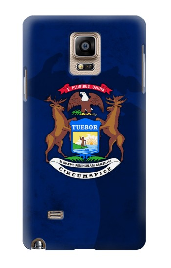 Printed State of Michigan Flag Samsung Note 4 Case
