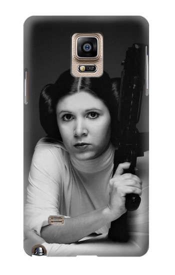 Printed Princess Leia Carrie Fisher Samsung Note 4 Case