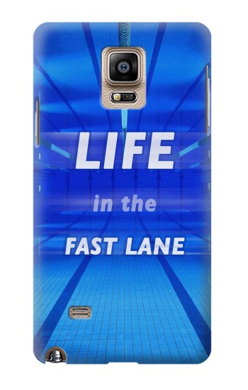 Printed Life in the Fast Lane Swimming Pool Samsung Note 4 Case