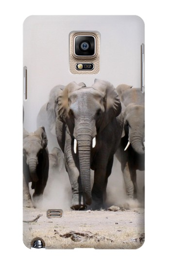 Printed African Elephant Samsung Note 4 Case