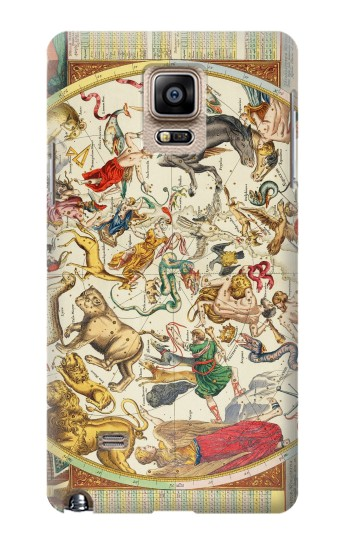 Printed Antique Constellation Map Samsung Note 4 Case