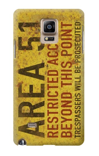 Printed Area 51 Restricted Access Warning Sign Samsung Note 4 Case