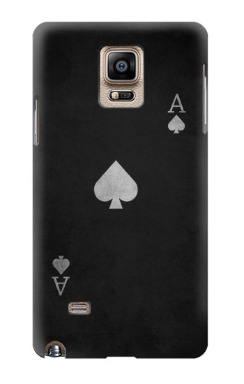 Printed Black Ace of Spade Samsung Note 4 Case