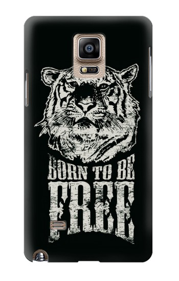 Printed Born to Be Free Tiger Samsung Note 4 Case
