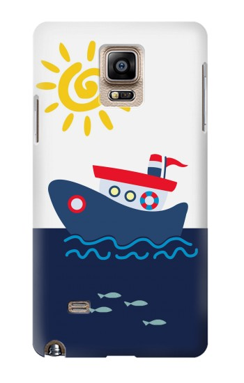 Printed Cartoon Fishing Boat Samsung Note 4 Case