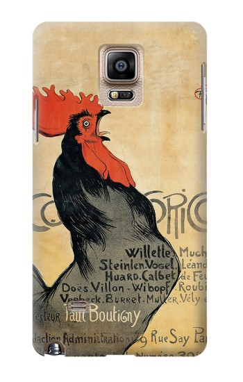 Printed Cocorico Rooster Vintage French Poster Samsung Note 4 Case