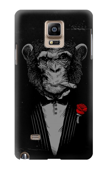 Printed Funny Monkey God Father Samsung Note 4 Case