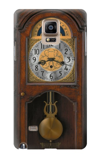 Printed Grandfather Clock Antique Wall Clock Samsung Note 4 Case