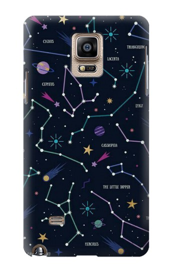 Printed Star Map Zodiac Constellations Samsung Note 4 Case