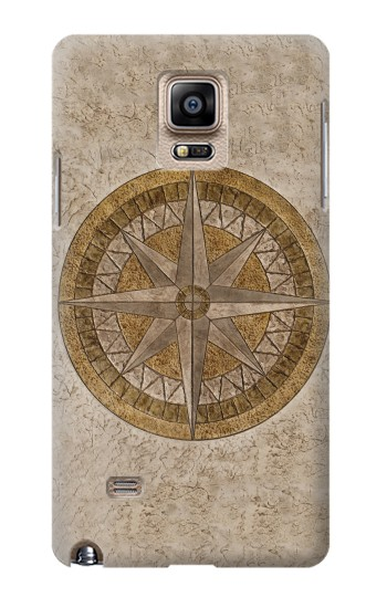 Printed Windrose Circle Stamp Samsung Note 4 Case