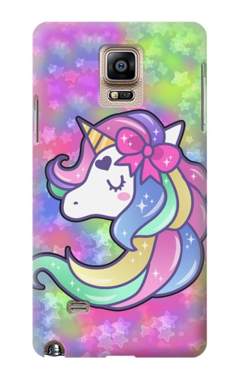 Printed Pastel Unicorn Samsung Note 4 Case