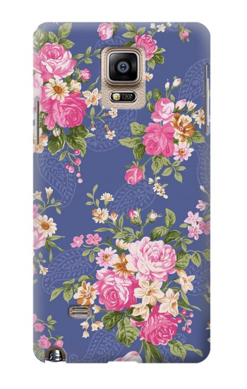 Printed Vintage Flower Pattern Samsung Note 4 Case