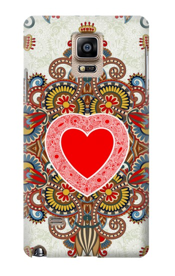 Printed Heart Pattern Line Art Samsung Note 4 Case