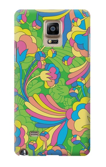 Printed Flower Line Art Pattern Samsung Note 4 Case