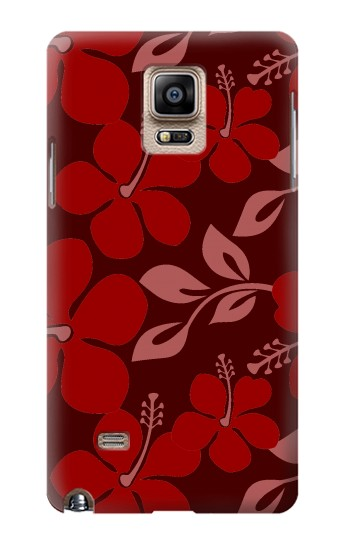 Printed Hawaii Dark Red Pattern Samsung Note 4 Case