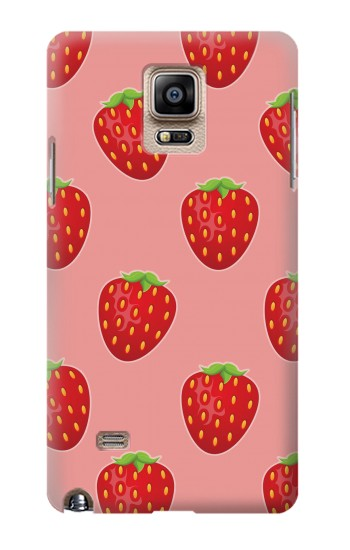Printed Strawberry Fruit Pattern Samsung Note 4 Case