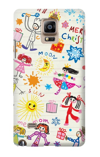 Printed Kids Drawing Samsung Note 4 Case