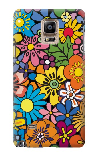 Printed Colorful Flowers Pattern Samsung Note 4 Case