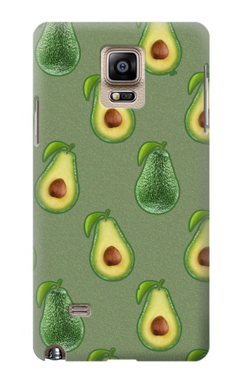 Printed Avocado Fruit Pattern Samsung Note 4 Case