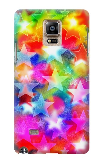 Printed Colourful Disco Star Samsung Note 4 Case