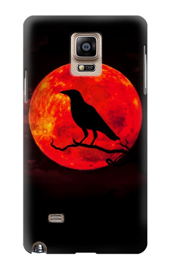 Printed Crow Red Moon Samsung Note 4 Case