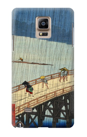 Printed Utagawa Hiroshige Sudden shower over Shin Oashi bridge and Atake Samsung Note 4 Case