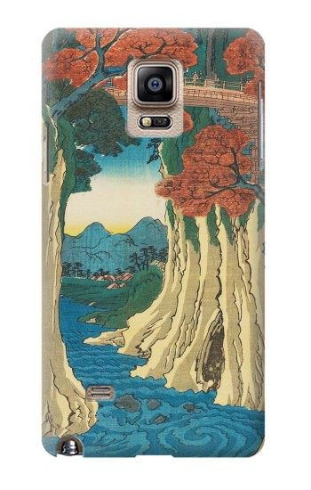 Printed Utagawa Hiroshige The Monkey Bridge in Kai Province Samsung Note 4 Case