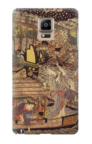 Printed Utagawa Kuniyasu Fireworks at Ryogoku Bridge Samsung Note 4 Case