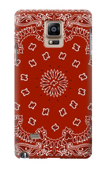 Printed Bandana Red Pattern Samsung Note 4 Case