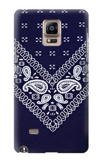 Printed Navy Blue Bandana Pattern Samsung Note 4 Case